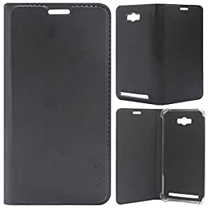 Dashmesh Shopping Durable Leather Flip Cover Case For Asus Zenfone Max ZC550KL - Black color