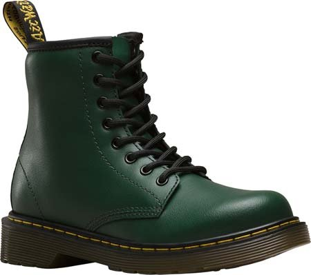 Dr.Martens Kids Delaney T Lamber Leather Boots Vert