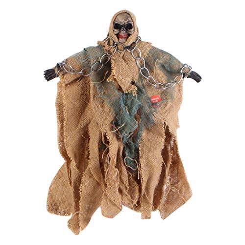 Mitlfuny Halloween coustems Kürbis Hexe Cosplay Gast Ghost Schicke Party Halloween deko,Gruselige menschliche Simulation Ossature Schädel Figur beängstigend Halloween Prop Party Spielzeug -