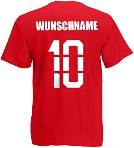 Deutschland T-Shirt Trikot Name Nummer Rot