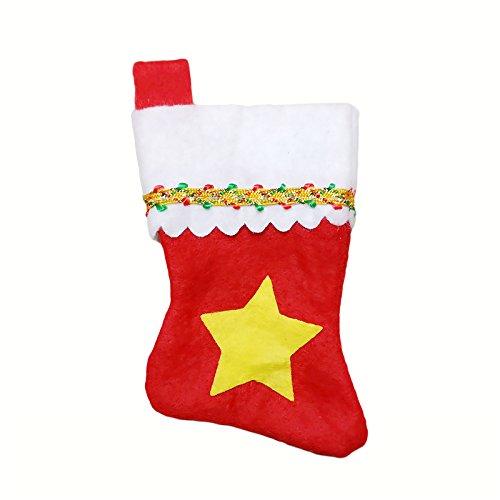 pygex (TM) 28pcs Natale festa di nozze regalo di compleanno piatti da tavola di Natale Decorazioni Tavola Set calze di Natale posate borsa 3 4