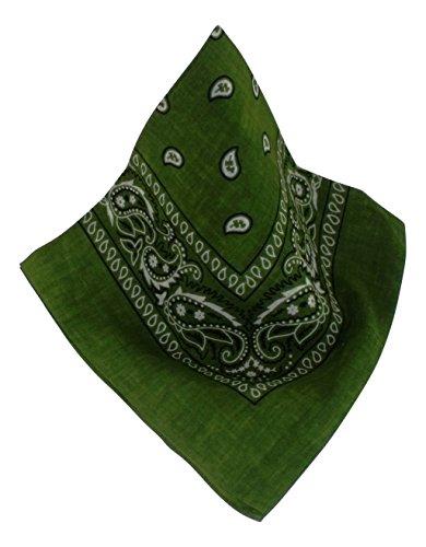 Nickituch/Bandana mit klassischem Muster in vielen modernen Farben (grün)