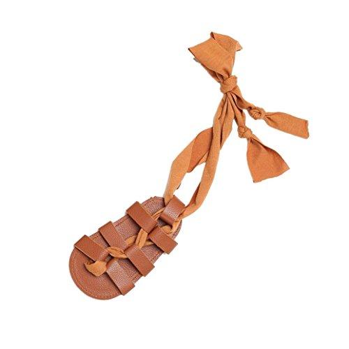 BZLine® Baby Bandagen Cross-gebundene Schuhe Mädchen Kleinkind Krippe prewalker Sandalen Braun