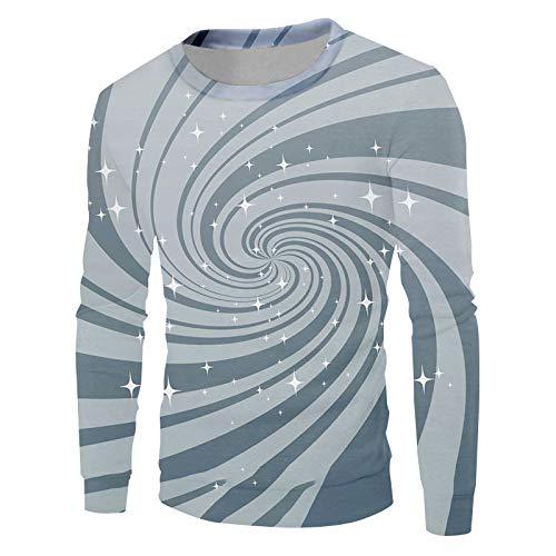 Ai Ya-weiyi 3D Printed Sweat Homme Modèle Personnalité Glitter Stripe Et Harajuku Occasionnels Vortex Big Size 6XL Pull