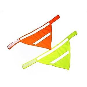 Basic collier pour chien réglable en velcro de Petite et Grande Taille Pets écharpe Triangle Foulard Lot de 2