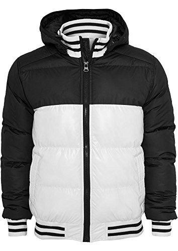 TB431 Shiny 2-tone Hooded College Bubble Jacket Herren Outdoor Jacke Kapuze (Hooded Herren Jacket Bubble)