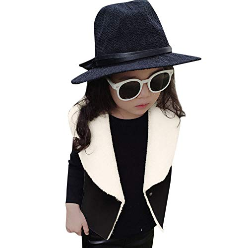 Togelei Kinder Weste Kleinkind Kinder Baby Mädchen Winter Warme Kleidung Kunstleder Weste Mantel Outwear Solid Sleeveless V-Ausschnitt Tops...