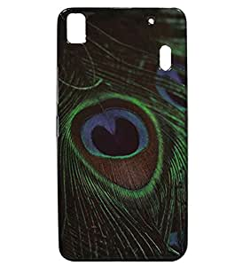 Peacock Feather Exclusive Rubberised Back Case Cover For Lenovo A7000
