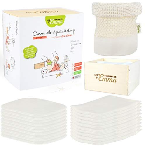 Kit of waschbar Baby-Feuchttücher - Material - Raw Bambus -