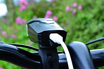 Büchel Batterieleuchtenset 30LUX LED Aspen Li ion Akku USB Kabel STVZO Zugelassen, Schwarz, 51125468