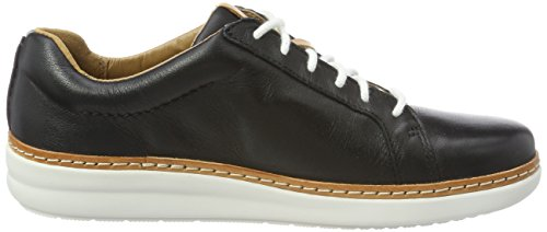 Clarks Damen Amberlee Rosa Sneaker Schwarz (Black Leather)