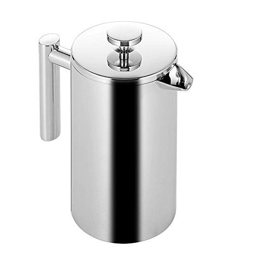 Gosear 350ml Doppel Wand Edelstahl Stahl Isoliert Kaffee Teekanne Französisch Kaffee Presse Maker Topf Mit Filter