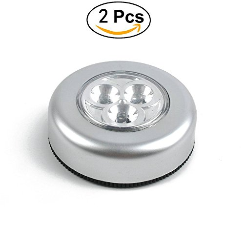 Lámpara LED a integrado con 3 luces LED - Lámpara de Tocco con 3 AAA pilas...