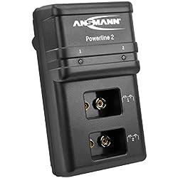 ANSMANN Powerline 2 Chargeur rapide pour piles rechargeables 9V NiMH/NiCd