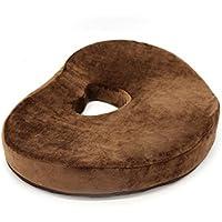 Preisvergleich für LQUIDE Sitzkissen Erfüllt Ergonomie, Korrektur-Haltung Memory Foam Sitzkissen zur Entlastung der Rückseite, Ischias,Steißbein Schmerzen,Geeignet Für Bürostühle,Coffee