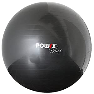 POWRX Gymnastikball DELUXE inkl. Pumpe & Workout I Sitzball