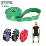 GSOTOA Bandas de Resistencia Kit Fitness Bandas Elásticas para dominadas de Látex Verde 50-125lbs Assist Bands