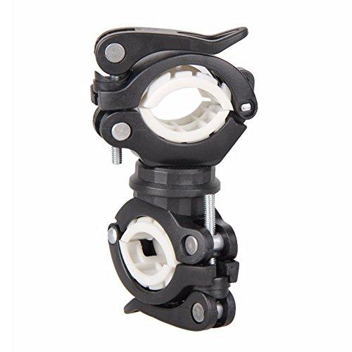 SODIAL 360 grados bicicleta giratoria luz de la bicicleta doble soporte LED frontal linterna lampara...