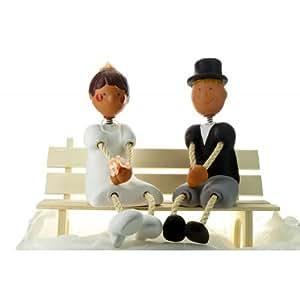 Jullar JC 403101 Décoration pour Pâtisserie Couple de Mariage sur Secteur Bancaire