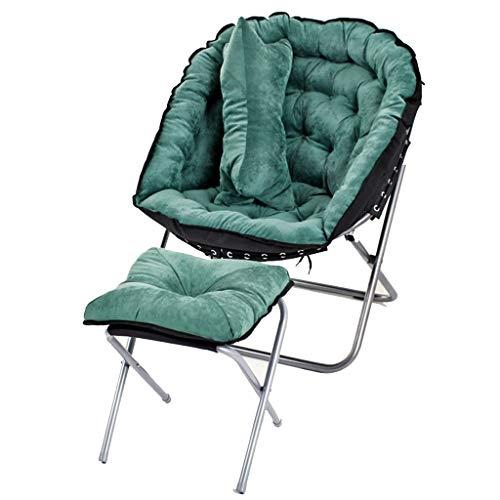 DS-chaise Moon Chair - Chaise d'appoint pour Adulte Chaise de Repos et Repose-Pieds Chaise Pliante intérieure Chambre Salon && (Couleur : A)