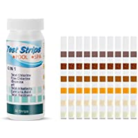 symboat 50pcs 6en 1piscina Spa tiras de prueba de cloro pH alcalinité el agua herramienta de prueba de dureza