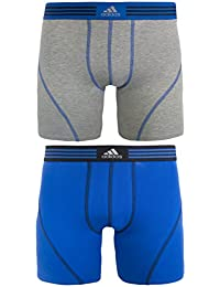 adidas Men's Athletic Stretch Cotton Boxer Brief Underwear (2-Pack)
