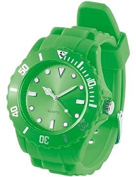 PEARL Silikon Armbanduhr grün