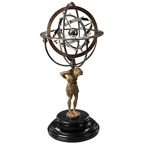 Authentic Models GL051 - Globus 18th C. Atlas Armillary - Bronze Skulptur Atlas - 56 x 25,5 cm