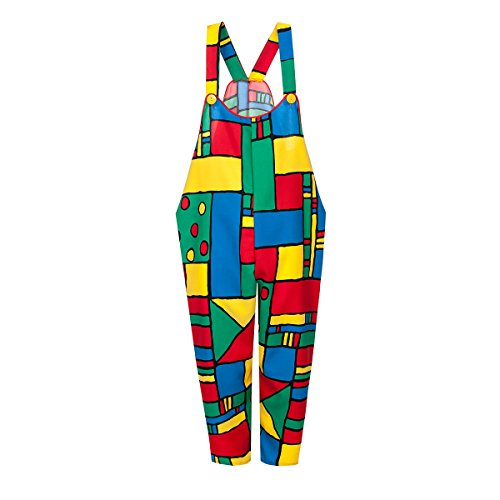 Plus Kostüme Erwachsene Clown (Kostümplanet® Clown-Latzhose Damen für Clown-Kostüm lustiges Faschingskostüm große Größen)