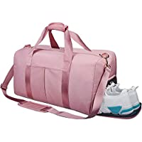 Lanling Gym Bag Dry Wet Separated, Waterproof Large Sports Duffel Bag Training Handbag with Shoes Compartment for Sport Traveling Swimming Yoga Hiking Camping