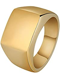Miami Jewellery Gold Stainless Steel Ring For Men Boys Fancy Party Wear Stylish Rings Valentine Gift For Boyfriend...