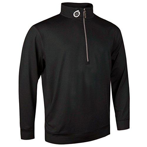 Sunderland Mens Zip Detail Stretch Golf Mid Layer Black M