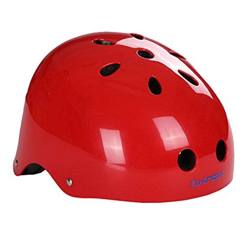 Helm Abseilen (Außen Safty Helm Klettern Höhlenausrüstung Für Rettungs Rot L Abseilen)