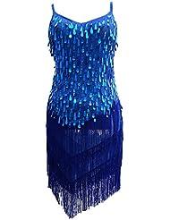 astage Femme millésime paillettes Fringe Sway Support Flapper Dress Pompons Party robe