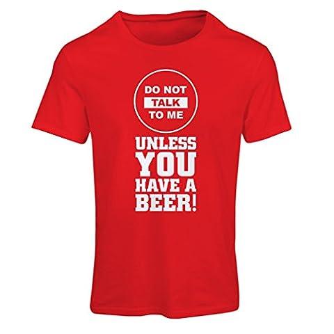 T-shirt femme La bière t-shirts! (Small Rouge Multicolore)