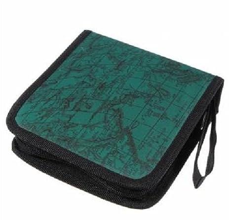 Veewon 40 disc CD Cases Wallet DVD Holder World Global Map Fashion DJ Storage Case Disc Organizer Wallet Bag Album