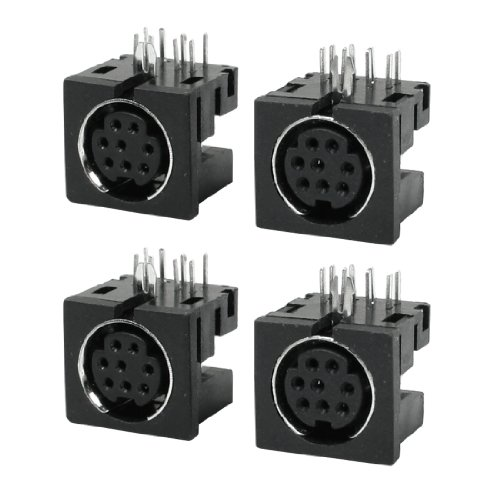 sourcing map 4 Stücke Ersatzteil S-Video 8 Pin Buchse PCB Montage Mini Din Sockel Adapter DE de