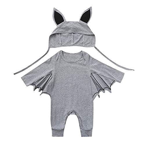 OverDose Damen Kleinkind Newborn Kinder Baby Jungen Mädchen Halloween Cosplay Tanz Rave Nette Weiche Kostüm Strampler Hut Outfits - Assassins Creed Kostüm Mädchen
