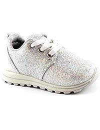 Scarpe Stringate Basse millenniums Scarpe da bambino per bambini della sneaker di tela per bambini (6-12M, Bianca)