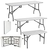 Denny Shop 4ft, 5ft & 6ft Camping Catering Heavy Duty Folding Trestle Table For BBQ Picnic Party by Crystals®