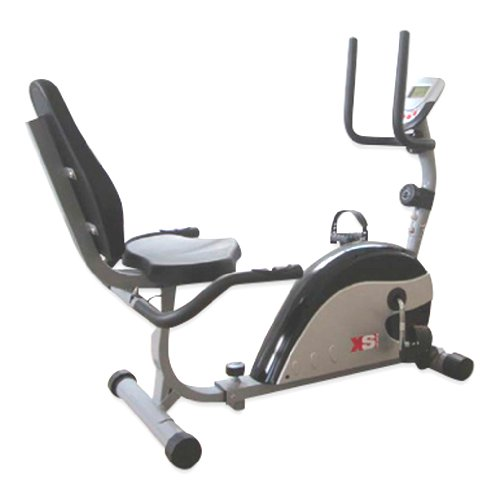 XS Sports Magnetic Recumbent Seated Exercise Bike-Fitness Cardio Weightloss Machine-With PC and...
