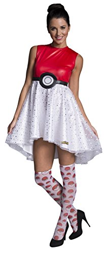 Pokemon Pokeball Women's Costume Dress: Medium