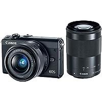 Canon EOS M100 with EF-M 15-45 is STM and EF-M 55-200 is STM Lens Kit (Black)