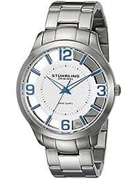Stührling Original 754.01 - Reloj analógico para hombre, correa de acero inoxidable, color plateado