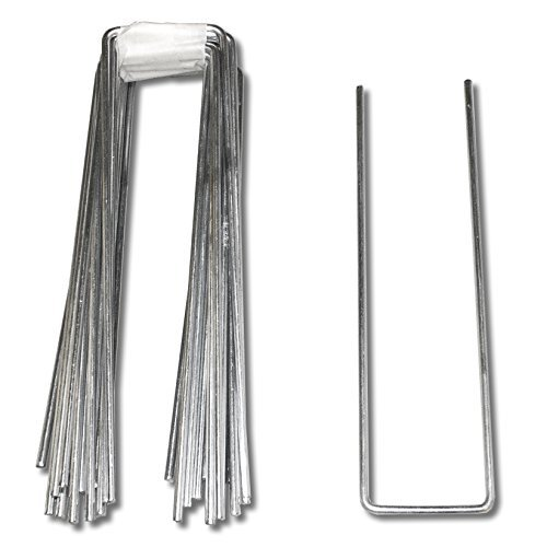 50 Pack x 40mm x 155mm Artificial Grass, Astro Turf Fixing Pins Galvanised Steel Staples