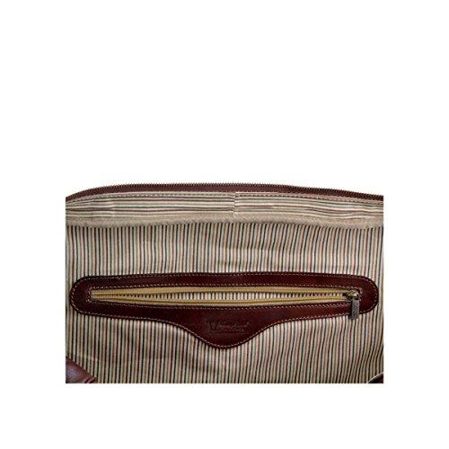 Tuscany Leather - TL Voyager - Borsa da viaggio in pelle Rosso - TL141218/4 Rosso