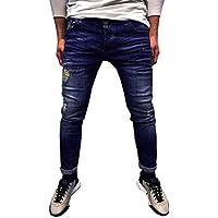 Geili Jeans Hose Herren Lang Destroyed Löchern Jeanshosen Skim Fit Strech Skinny Jeans Männer Vintage Wasserwäsche... preisvergleich bei billige-tabletten.eu