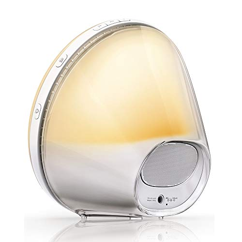 Philips HF3520/01 Wake-Up Light (Sonnenaufgangfunktion, digitales FM Radio, Tageslichtwecker) weiß - 4