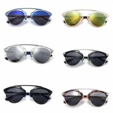 Unisex Männer Frauen Retro Vintage Mirrored Aviator Objektiv Sonnenbrillen UV-Schutzbrillen