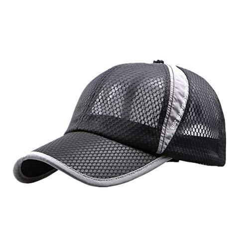 DOLDOA Hut Damen Sommer,Männer und Frauen im Freien Urlaub Sonnenschirm Sonnenhut Quick-Dry Belüftung Baseball (Schwarz)